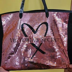 Victoria secret pink sequined bag